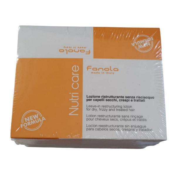 Lotiune Restructuranta fara Clatire - Fanola Nutri Care Leave-In Restructuring Lotion, 12 fiole x 12 ml imagine produs