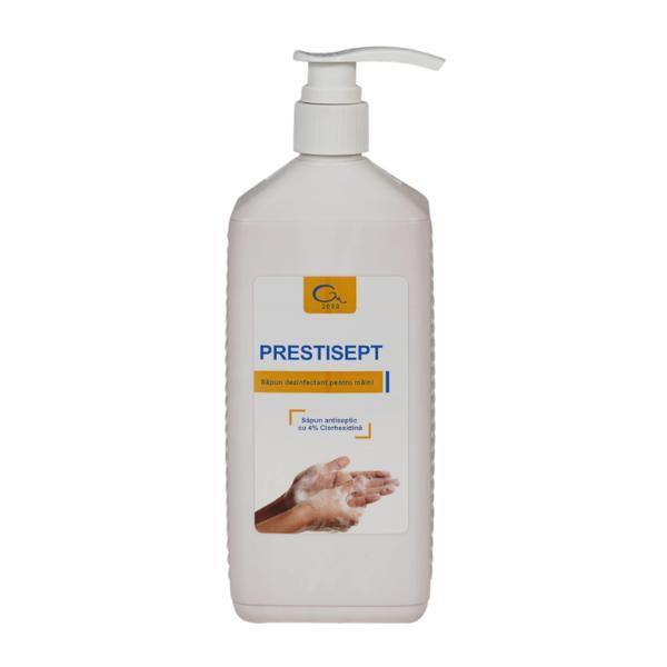 Sapun lichid dezinfectant pentru maini Prestisept 500 ml - cu dozator esteto.ro