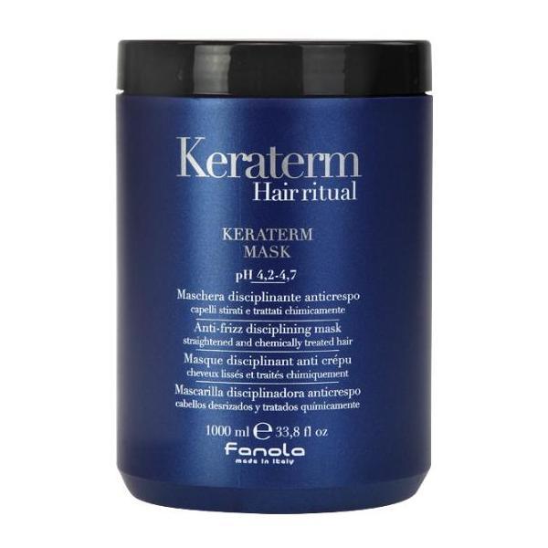Masca pentru Netezire - Fanola Keraterm Hair Ritual Anti-Frizz Disciplining Mask, 1000ml imagine produs
