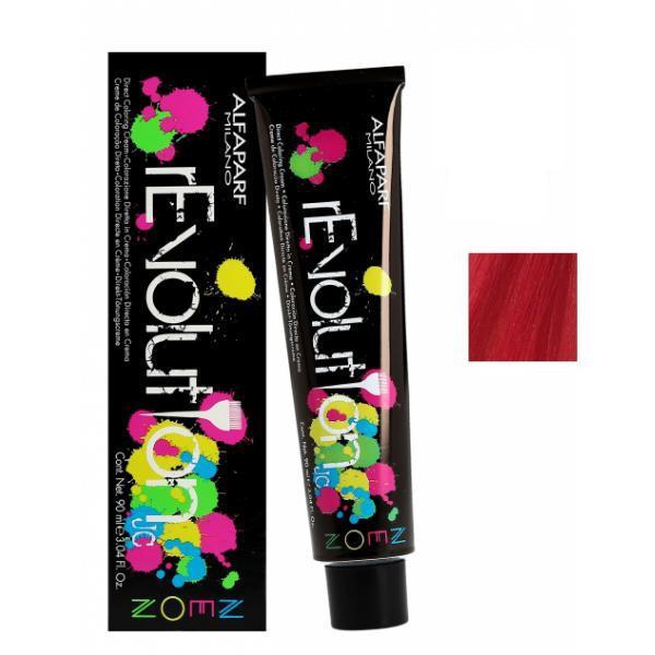 Crema Colorare Directa Rosu Electric - Alfaparf Milano Jean's Color rEvolution Direct Coloring Cream Neon ELECTRIC RED 90 ml poza