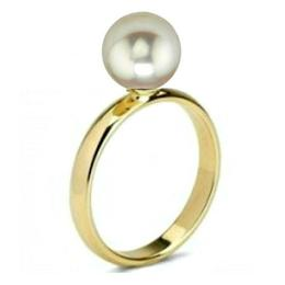 Inel de Aur cu Perla de Akoya Premium - Cadouri si Perle