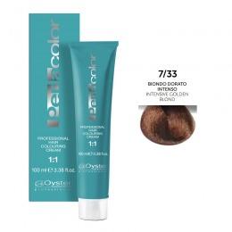 Vopsea Permanenta - Oyster Cosmetics Perlacolor Professional Hair Coloring Cream nuanta 7/33 Biondo Dorato Intenso
