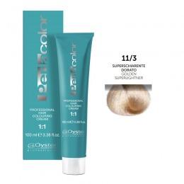 Vopsea Permanenta - Oyster Cosmetics Perlacolor Professional Hair Coloring Cream nuanta 11/3 Superschiarente Dorato