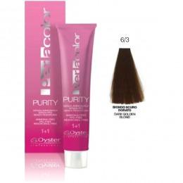 Vopsea fara Amoniac - Oyster Cosmetics Perlacolor Purity nuanta 6/3 Biondo Scuro Dorato