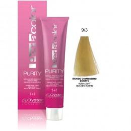 Vopsea fara Amoniac - Oyster Cosmetics Perlacolor Purity nuanta 9/3 Biondo Chiarissimo Dorato