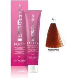 Vopsea fara Amoniac - Oyster Cosmetics Perlacolor Purity nuanta 7/4 Biondo Ramato