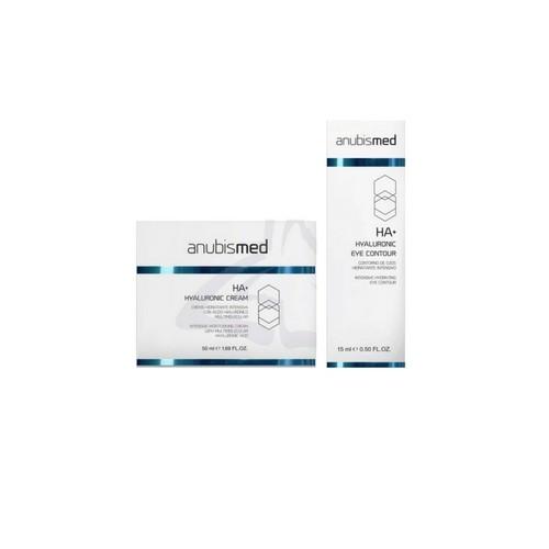 Pachet cu Acid Hialuronic - Anubis Anubismed HA+ - Crema si Concentrat pentru Conturul Ochilor poza