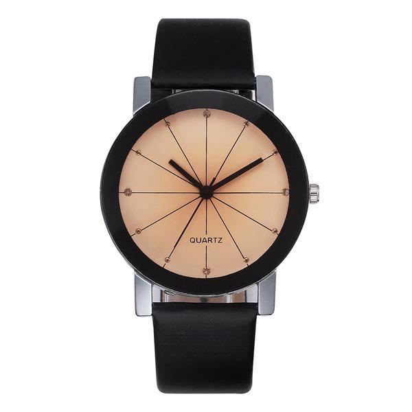 Ceas de dama Fashion Geneva, curea piele, model negru