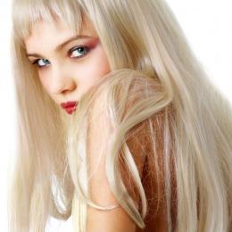 Tresa de par extravolum Veritable , lungime 55 cm , culoare blond platinat ( # 613 )