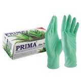Manusi Medicale Colorate Latex Aloe Vera Nepudrate Marimea L - Prima Latex Examination Gloves Aloe Vera Powder Free L, 100 buc