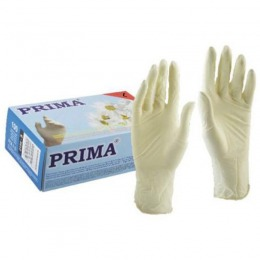 Manusi Medicale de Examinare Latex Pudrate Marimea L - Prima Latex Examination Gloves Light Powdered L, 100 buc