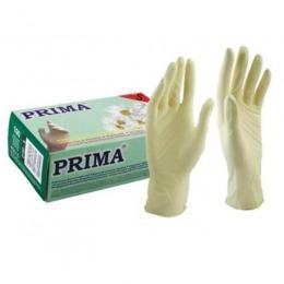 Manusi Medicale de Examinare Latex Nepudrate Marimea S - Prima Latex Examination Gloves Powder Free S, 100 buc