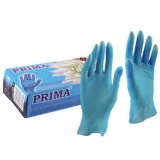 Manusi Medicale Colorate Vinil Pudrate Albastre Marimea M - Prima Vinil Examination Gloves Light Powdered Blue M, 100 buc