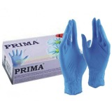 Manusi Medicale Colorate Nitril Albastre Pudrate Marimea L - Prima Nitril Examination Blue Gloves Light Powder L, 100 buc