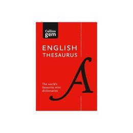 Collins Gem English Thesaurus, editura Harper Collins Paperbacks