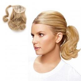 Coada de par Veritable , lungime 55 cm , culoare blond aluna ( # 12 )