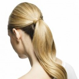 Coada de par Veritable , lungime 65 cm , culoare blond aluna ( # 12 )