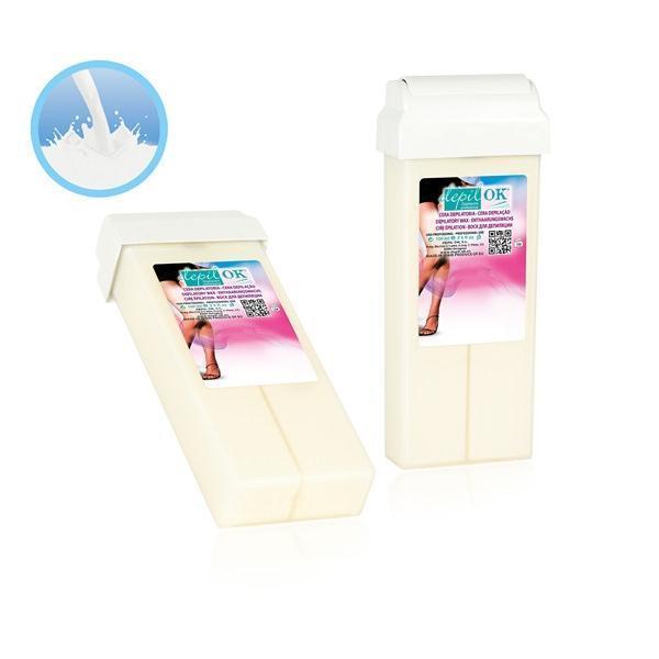 Cartus de ceara depil OK Milk/Lapte 100ml imagine produs