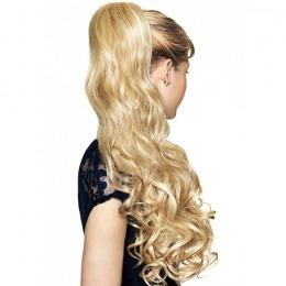 Coada de par Veritable , lungime 50 cm , culoare blond auriu ( # 24 )