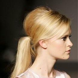 Coada de par Veritable , lungime 55 cm , culoare blond auriu ( # 24 )
