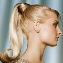 Coada de par Veritable , lungime 60 cm , culoare blond auriu ( # 24 )