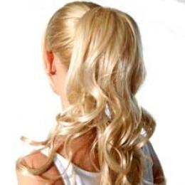 Coada de par Veritable , lungime 65 cm , culoare blond auriu ( # 24 )