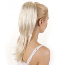 Coada de par Veritable , lungime 55 cm , culoare blond platinat ( # 613 )