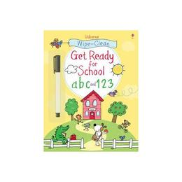 Wipe-clean Get Ready for School ABC and 123, editura Usborne Publishing