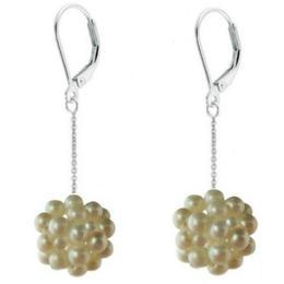 Cercei Lungi Argint Bulgarasi Perle Naturale Albe - Cadouri si Perle