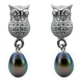 Cercei Lucky Perle Naturale Negru-Albastrui - Cadouri si Perle