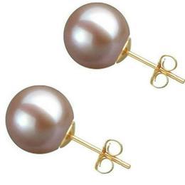 Cercei de Aur cu Perle Premium AAA Lavanda - Cadouri si Perle