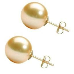 Cercei de Aur cu Perle Premium AAA Crem - Cadouri si Perle