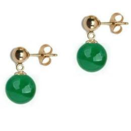Cercei de Aur cu Jad Malaesian - Cadouri si Perle