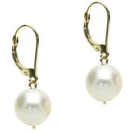 Cercei Business cu Tortita Inchisa de Aur si Perle Naturale Premium - Cadouri si Perle