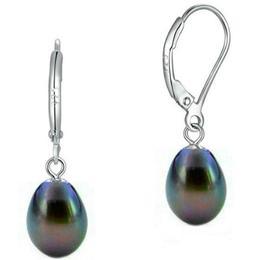 Cercei Business cu Perle Teardrops Negre Albastrui - Cadouri si Perle