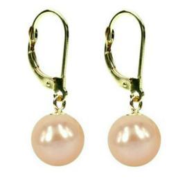 Cercei Aur si Perle Naturale Crem - Cadouri si Perle