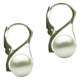 Cercei Argint cu Perle Naturale Albe Premium de 10 mm - Cadouri si Perle