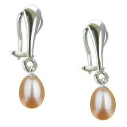 Cercei Argint Clips cu Perle Naturale Teardrops Crem - Cadouri si Perle