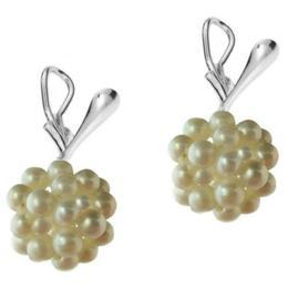 Cercei Argint Clips cu Bulgarasi Perle Naturale Albe - Cadouri si Perle