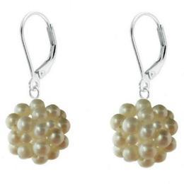 Cercei Argint Bulgarasi Perle Naturale Albe - Cadouri si Perle