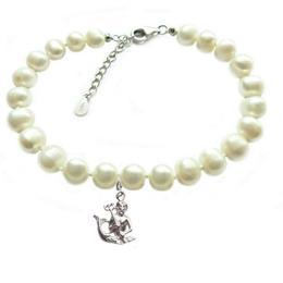 Bratara Zodiac Varsator cu Perle Naturale Albe 7 mm - Cadouri si Perle