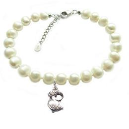 Bratara Zodiac Pesti cu Perle Naturale Albe 7 mm - Cadouri si Perle