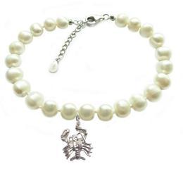 Bratara Zodiac Rac cu Perle Naturale Albe 7 mm - Cadouri si Perle