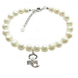 Bratara Zodiac Scorpion cu Perle Naturale Albe 7 mm - Cadouri si Perle