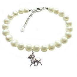 Bratara Zodiac Berbec cu Perle Naturale Albe 7 mm - Cadouri si Perle