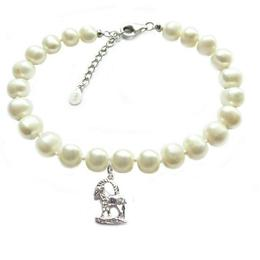 Bratara Zodiac Capricorn cu Perle Naturale Albe 7 mm - Cadouri si Perle