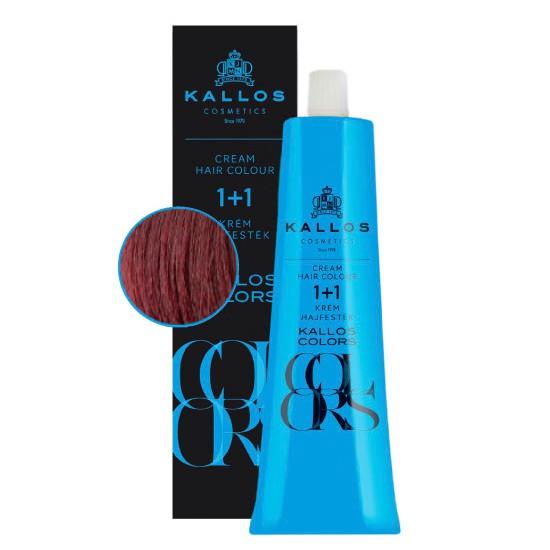 Vopsea Permanenta Kallos Colors Cream Hair Colour Nuanta 6v Rosu