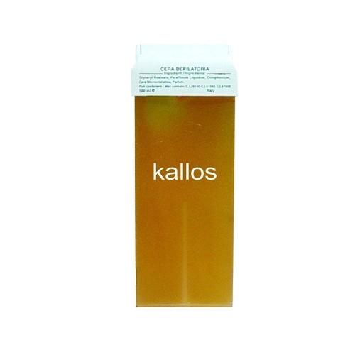 Ceara de Epilat Naturala de Unica Folosinta - Kallos Depilatory Wax, galbena, cu miere, 100g imagine produs