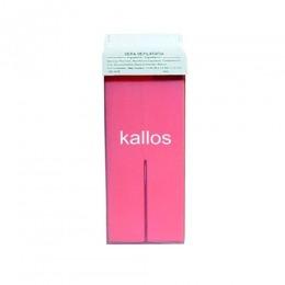 Ceara de Epilat Naturala de Unica Folosinta - Kallos Depilatory Wax, rosie, cu bioxid de titan, 100g