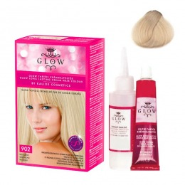 Vopsea Permanenta - Kallos Glow Long Lasting Cream Hair Colour Nuanta 902 Bej Blond